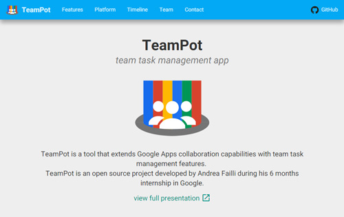 TeamPot, team task management app